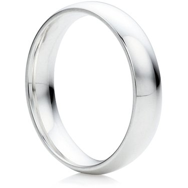Wedding Rings Direct 4mm Platinum Court Wedding Ring 87g Y 12