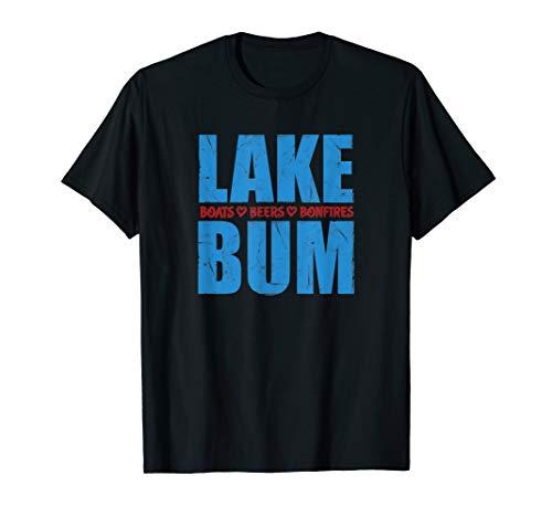 Camp Shirt Beer - Lake Bum Lake Life Boating Fun Beer Drinking Campfires T-Shirt