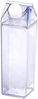 Botellas Botella Cartón de la leche Agua clara cuadrado de la leche estancos jugo portátil Copa de fitness Camping deportivo de café espresso Copas
