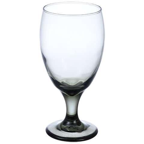 Black Water Goblet (Smokey Goblets Set of 12 Opaque Black 16.25 Tea Goblets)