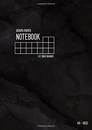 Graph Paper Notebook A4 1/2 Inch Squares: Marble Black, Smart Design, Large Grids, Numbered Pages, Composition Book Quad Ruled for Math / Handwriting Workbook for Kids (Graph Journals) pdf