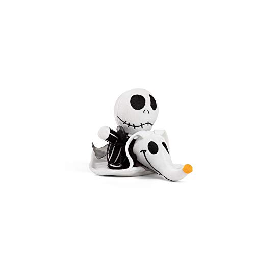 Disney Nightmare Before Christmas Jack and Zero Plush Toy, Dog Chew Toy with Squeaker