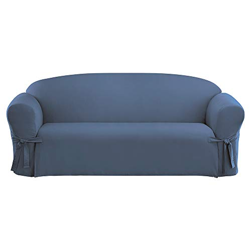 SureFit Cotton Duck - Sofa Slipcover  - Bluestone (SF33055) ()