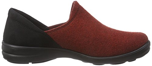 Doublées schwarz Rot Femme Chaussons Home Rot 03 ROMIKA 449 Non Courts Maddy gAwqBY