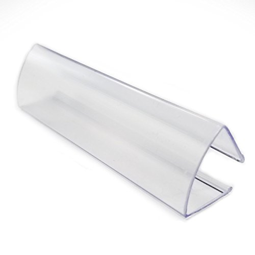 3'' L Clear Wood Shelf Label Holder Clip On to Shelves 5/8'' to 3/4'' Thick, 20 Pack by Store Fixtures Direct