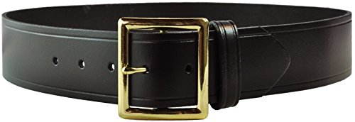 Tactical 365 Operation First Response Police & Security Black Leather Duty Garrison Belt Made in The USA (Gold, 42) (Garrison Buckle)