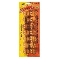 Dingo Mini Beefy Dog Bone, Pack of 6