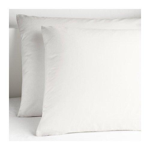 """Ikea Dvala White 26""""x26"""" Pillowcases, 100% Cotton"""