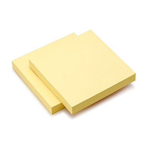 Sticky Notes, Yellow, 3 in x 3 in, 76 x 76 mm, 10 Pads/Pack, 100 Sheets/Pad