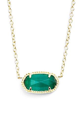 Kendra Scott Birthstone Elisa May/ Emerald Cats Eye Pendant Necklace