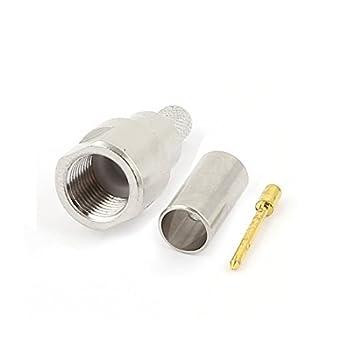 DealMux FME macho de crimpado para conector coaxial LMR195 RG58 RG400 RG142 recta RF