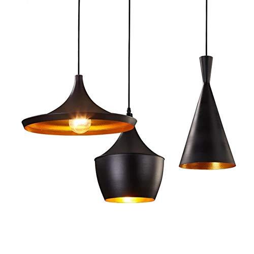 Linen B Style américain rétro led lampes suspendues moderne thème restaurant en aluminium lampe suspendue salon café bar luminaires, lin b