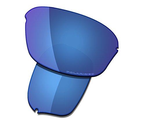 cement Lenses for Oakley Half Wire 2.0 Sunglasses High Defense - Midnight Blue Polarized ()
