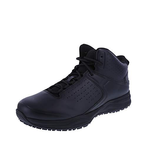 safeTstep Men's Black Slip Resistant Trifecta Mid-Top Sneaker 10.5 Regular
