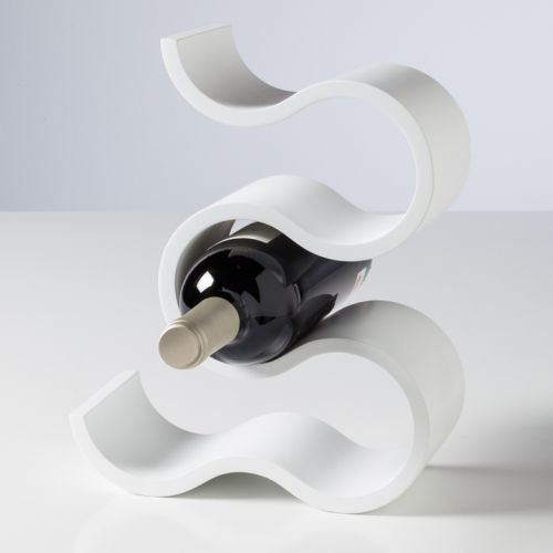Torre & Tagus 920118 Swirl 5 Bottle Wine Rack Tall - White,Tall (Tall Bottle Wine)