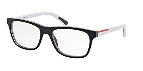 Prada PS01FVA Eyeglass Frames TIN1O1-55 - Top Black/white/brown at ...