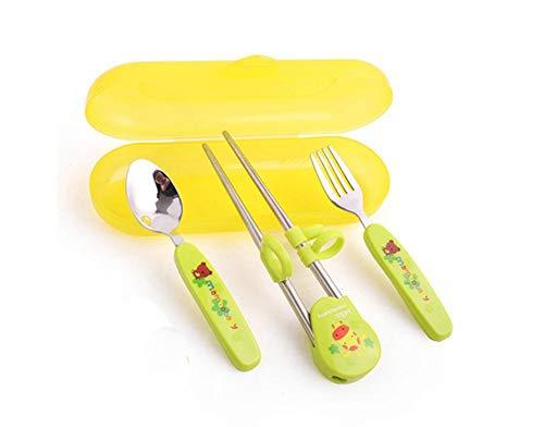 3 Piece Childs Tableware - Three-Piece Children's Tableware Fork&Spoon&Chopsticks(Blue)