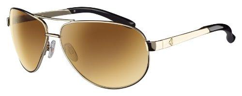 Ryders Mig PGBL Polarized Aviator Sunglasses,Gold,170 - Sunglasses Bugaboos