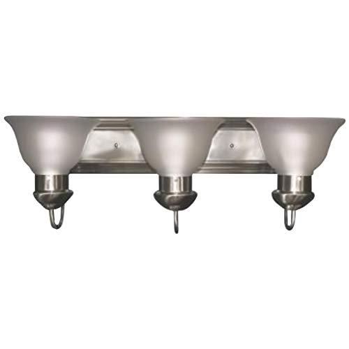 3 Light Tulip - Maxlite 1408625 ML8E303TUNI27 VANITY BAR TULIP NICKEL FINISH WITH 3X10W 2700K JA8 COMPLIANT E26 SOCKET LED LAMP