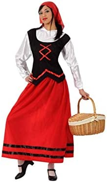 Atosa-50851 Disfraz Pastora Mujer Adulto-Tal, color rojo, M/L ...