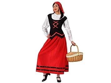 Atosa-50851 Disfraz Pastora Mujer Adulto - Tal, Color rojo ...