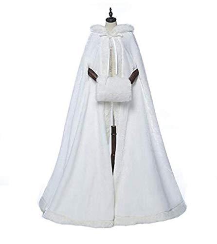 Noël Manteau Meibida Ivoire Costume De Hiver Chaud Cape Nuit Capuche bf7IYgy6mv