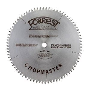 Forrest CM12806115 Chopmaster 12-Inch 80-tooth ATB Miter Saw Blade with 1-Inch Arbor ()