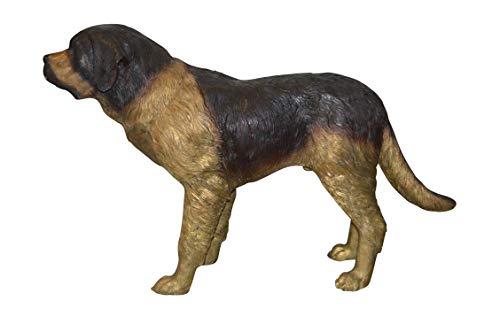 St. Bernard Dog Bronze Statue - Size: 57