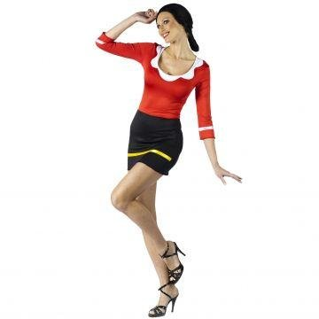 Olive Oyl Adult Costume - Small/Medium - Olive And Popeye Costume