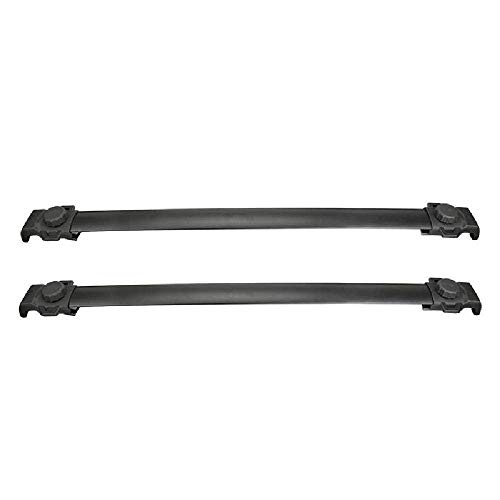IRONWALLS 2PCS Roof Racks Crossbars Cargo Load Bars Aluminum Black for 2018 2019 Jeep Compass