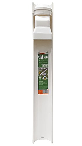 - Frost King GWS3W Tilt N' Drain Downspout Extender, 3'. Long, Extends To 6'.,,, White