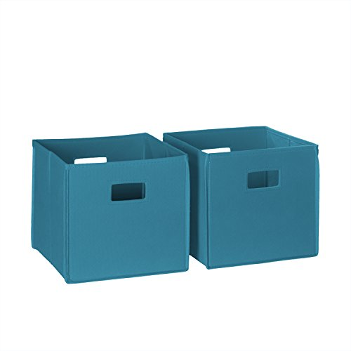 RiverRidge 02-060 2-Piece Folding Storage Bin, Turquoise