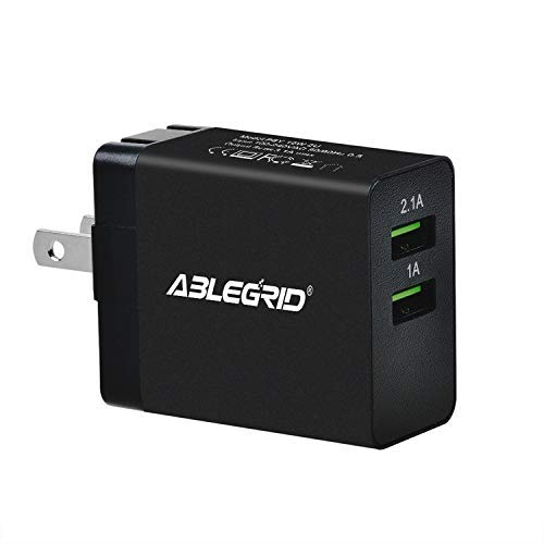 ABLEGRID Travel Wall 2 USB Ports AC/DC Adapter for Digix Tab 730 Tab-1030 Tablet PC Power Supply Charger PSU (excluding USB Cable)