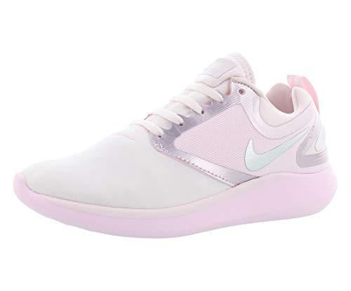 Nike Lunarsolo GS Running Trainers AA4404 Sneakers Shoes (UK 6 us 7Y EU 40, Pearl Pink Metallic Silver 600)