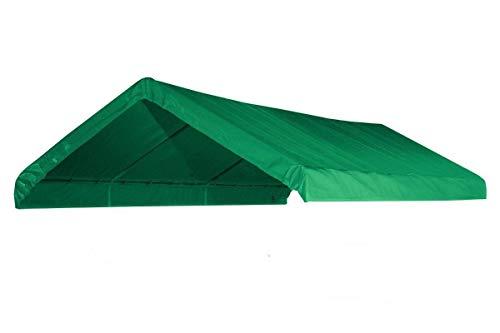 - 10X20 Heavy Duty Waterproof Green Valance Canopy Cover