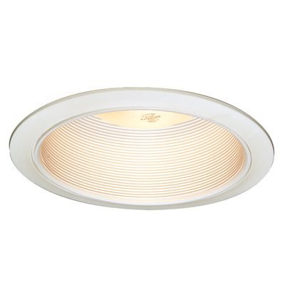 NATIONAL BRAND ALTERNATIVE 617545 Recessed Lighting Nonmetallic Baffle Trim 6 In. White with White Trim Ring -