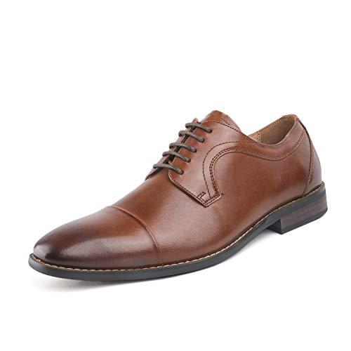 Bruno Marc Men's Dark Brown Dress Shoes Cap Toe Oxford Size 7.5 M US