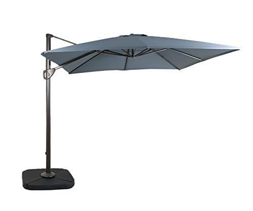 Cheap DOMI OUTDOOR LIVING 10 10-Feet Square Cantilever Umbrella Outdooor Patio Tilt & Crank Umbrella Cross Base,Grey