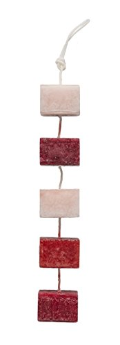 DecoFLAIR Candles On A Rope Scented Tealight Votive Candles, Relaxation, String of 5 (Flair Five Light Bath)