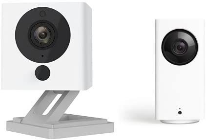 Wyze Cam Pan 1080p Pan Tilt Zoom with Wyze Cam v2 1080p Indoor Smart Home Camera