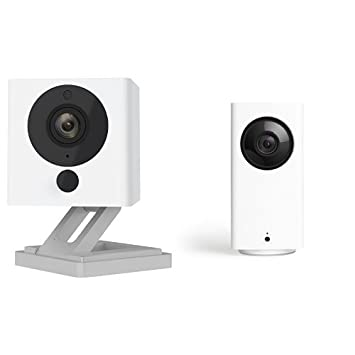 Wyze Cam Pan 1080p Pan/Tilt/Zoom with Wyze Cam v2 1080p Indoor Smart Home  Camera