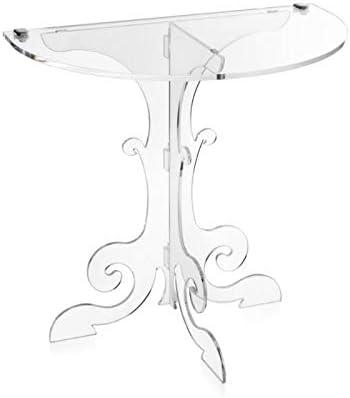 iPLEX 50,5x50x30 cm Made in Italy Anfitrione Comodino Consolle da Muro Design fine 700 in plexiglass Trasparente Dim