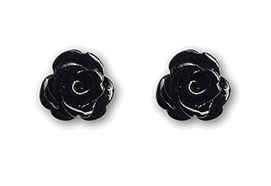 Ohrringe Ohrstecker schwarze Rose 925er Silber Schmuck  Amazon.de ... 9059b20327
