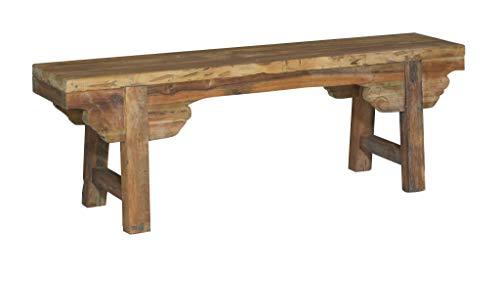 East at Main SB-69566 Ellen Bench, Brown Asian Inspired Wood Bench