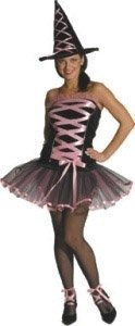 Women Med (6-12) Pink Witchy La Bouf (Witchy Woman Costumes)