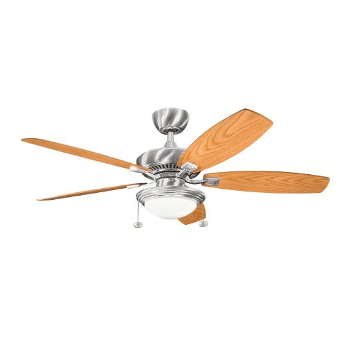 Kichler 300016OBB, Canfield Select Oil Brushed Bronze Energy Star 52 Ceiling Fan with Light