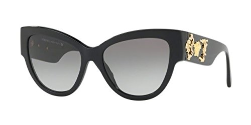 Versace Women's VE4322 Black/Grey Gradient - Face Oval Sunglasses For Shape Best