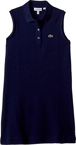 Lacoste Kids Girl's Sleeveless Petit Pique Dress (Toddler/Little Kids/Big Kids) Navy Blue 2T (Girls Sleeveless Pique)