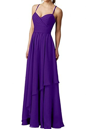 Elegant mia Abendkleider Chiffon Langes Festlichkleider Formal Braut Lila Brautjungfernkleider Partykleider La Ballkleider Ttd1qR1