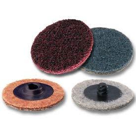 Superior Abrasives 40611 S Cond HS Satin Disc 1/2'' Hole 6'' Aluminum Oxide Very Fine - Pkg Qty 25